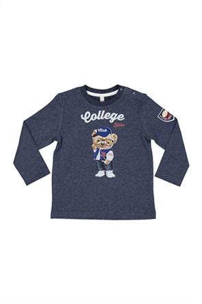 Grant Birba βρεφική μπλούζα με print ''College''