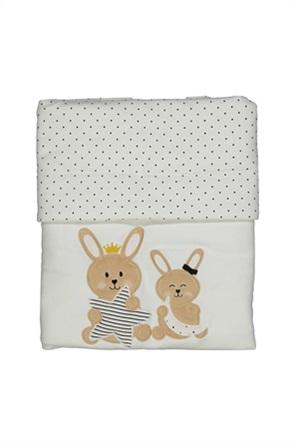 Grant Birba βρεφική κουβέρτα με πουά print και κεντημένο σχέδιο