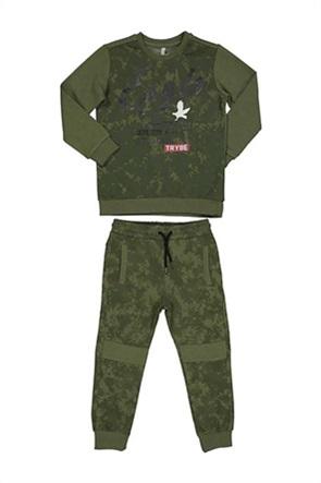 Grant TryBeyond παιδικό σετ φόρμας με army print