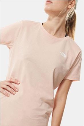 The North Face γυναικείο T-shirt μονόχρωμο με logo print ''Simple Dome''