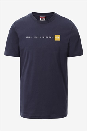 """The North Face ανδρικό T-shirt με letter print """"Never Stop Exploring"""""""