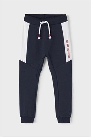 Name It παιδικό παντελόνι φόρμας με lettering στο πλάι