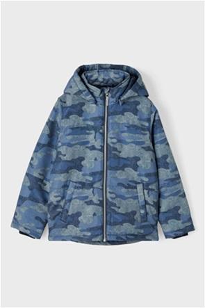 Name It παιδικό μπουφάν αδιάβροχο με militaire print