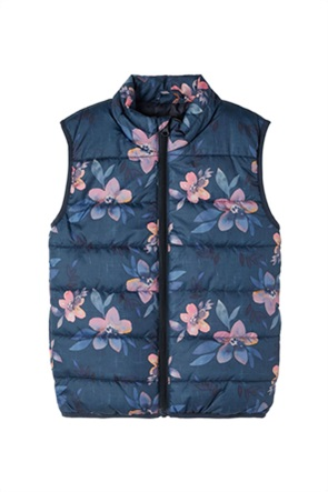 Name It παιδικό αμάνικο μπουφάν με all-over floral print