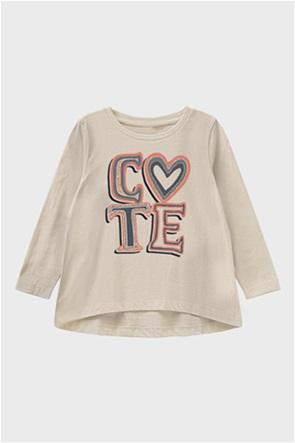 Name it παιδική μπλούζα μακό μονόχρωμη με στάμπα