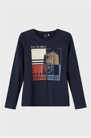 Name it παιδική μπλούζα μακό με graphic print