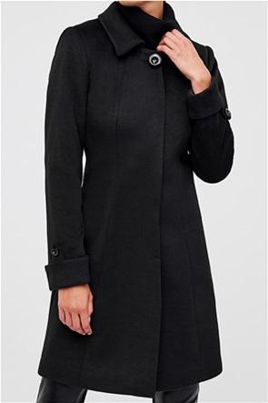 Forel γυναικείο παλτό με ρεβέρ στα μανίκια
