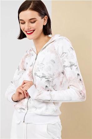 Forel γυναικεία ζακέτα φούτερ με floral print