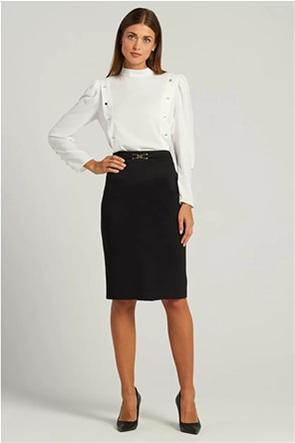 Forel γυναικεία φούστα pencil με μεταλλικό σχέδιο
