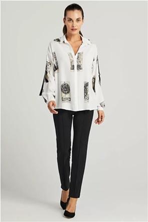Forel γυναικείο πουκάμισο με all-over print
