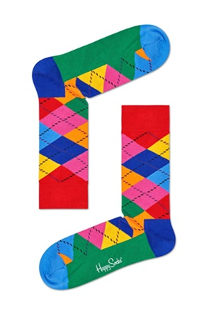 Happy Socks unisex κάλτσες με γεωμετρικό print ''Argyle''