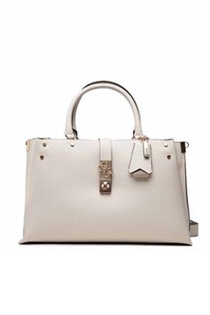 Guess γυναικεία τσάντα χειρός με μεταλλικό λογότυπο ''Albury''
