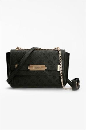 Guess γυναικεία τσάντα crossbody με ανάγλυφο σχέδιο και μεταλλικές λεπτομέρειες ''Bea''