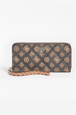 Guess γυναικείο πορτοφόλι με καπιτονέ σχέδιο και all-over logo print ''Cessily''