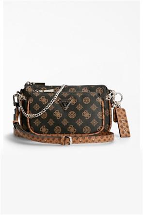 Guess γυναικεία τσάντα crossbody με all-over logo print ''Arie''