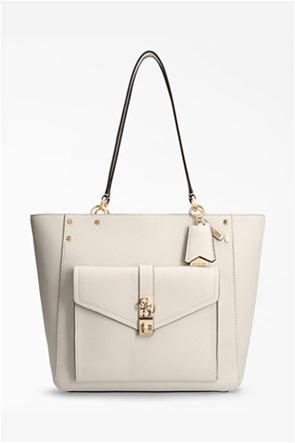 Guess γυναικεία τσάντα ώμου με μεταλλικές λεπτομέρειες ''Albury''