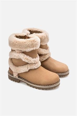 Μayoral παιδικές δερμάτινες μπότες με λεπτομέρειες από faux γούνα (31-35)