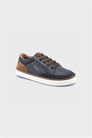 Mayoral παιδικά sneakers με suede λεπτομέρειες και logo print (36-38)
