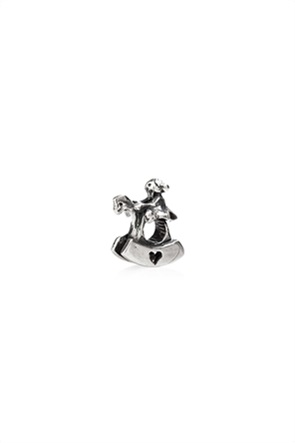 Tedora ασημένιο μεταλλικό charm Rocking Horse
