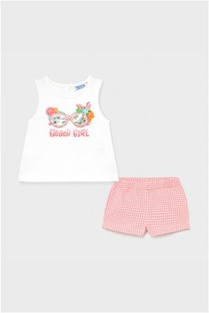 Mayoral βρεφικό σετ ρούχων αμάνικη μπλούζα και σορτς (9-36 μηνών)