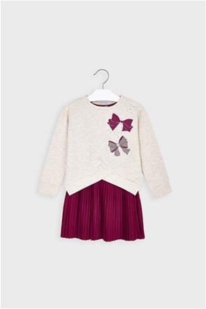 Mayoral παιδικό σετ ρούχων φόρεμα και μπλούζα φούτερ (3-9 ετών)