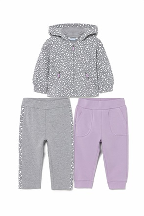Mayoral βρεφικό σετ ρούχων ζακέτα και παντελονάκια (6-36 μηνών)(3 τεμάχια)