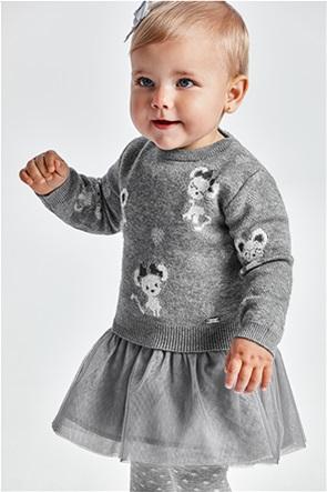 Mayoral βρεφικό σετ ρούχων πλεκτή μπλούζα και φόρεμα με τούλι (6-36 μηνών)