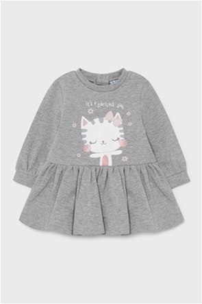 "Mayoral βρεφικό φόρεμα με cat print ""Ecofriends""(6-36 μηνών)"