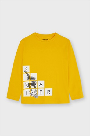 "Mayoral παιδική μπλούζα με skater graphic print ""Ecofriends"" (2-9 ετών)"