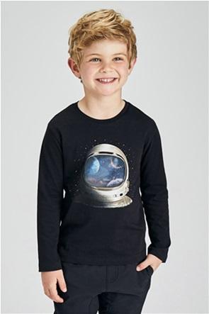 "Mayoral παιδική μπλούζα με graphic print ""Ecofriends"" (2-9 ετών)"