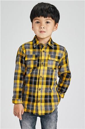 "Mayoral παιδικό πουκάμισο με καρό σχέδιο ""Ecofriends"" (2-9 ετών)"