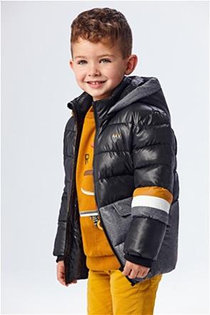 Mayoral παιδικό μπουφάν καπιτονέ colourblocked με κουκούλα (2-9 ετών)