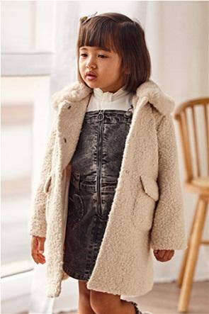 Mayoral παιδικό παλτό μπουκλέ μονόχρωμο (2-9 ετών)