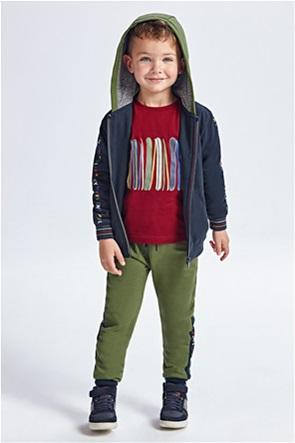 Mayoral παιδικό σετ ρούχων ζακέτα φούτερ με κουκούλα και παντελόνια (2-9 ετών)(3 τεμάχια)