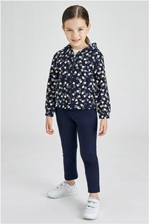 Mayoral παιδικό σετ ρούχων ζακέτα φούτερ με all-over heart print και παντελόνια (2-9 ετών)(3 τεμάχια)