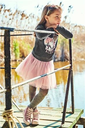 Mayoral παιδικό σετ ρούχων μπλούζα φούτερ με graphic print και φούστα με τούλι (2-9 ετών)
