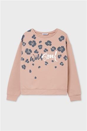 Mayoral παιδική μπλούζα φούτερ με leopard print (8-16 ετών)