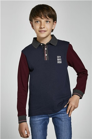 """Mayoral παιδική πόλο μπλούζα colourblocked """"Ecofriends""""(8-16 ετών)"""
