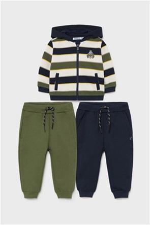 Mayoral βρεφικό σετ ρούχων ζακέτα με ρίγες και παντελόνια  (6-36 μηνών) (3 τεμάχια)