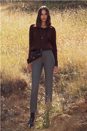 "Sarah Lawrence Jeans γυναικείο ριγέ παντελόνι με λοξές τσέπες ""City"""