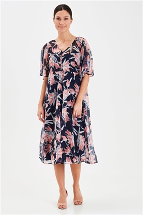Fransa γυναικείο midi floral φόρεμα