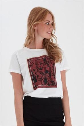 Fransa γυναικείo T-shirt με print Regular fit