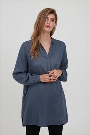 Fransa γυναικεία πουκαμίσα με all-over πουά κεντήματα