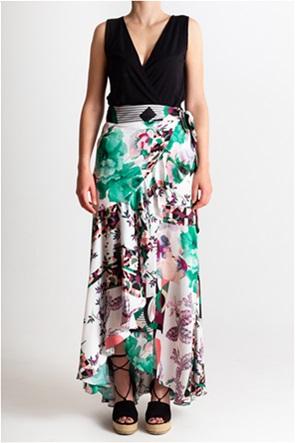 She is γυναικεία maxi floral φούστα κρουαζέ