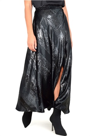 MY T γυναικεία φούστα με ασημί λεπτομέρειες
