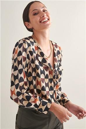 My T γυναικείο πουκάμισο με γεωμετρικό print