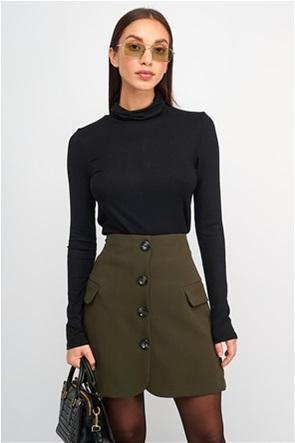 MY T γυναικεία mini φούστα με διακοσμητικά κουμπιά