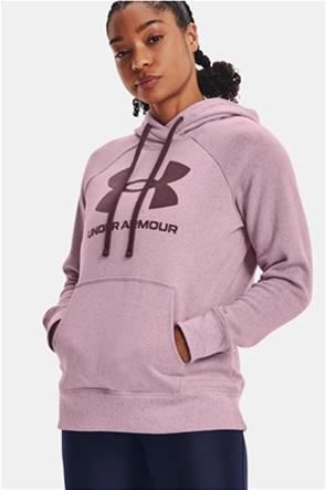 "Under Armour γυναικεία μπλούζα φούτερ με logo print και κουκούλα ""Rival Logo"""