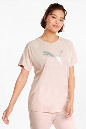 "Puma γυναικείο T-shirt με metallic logo  ""Εvostripe"""
