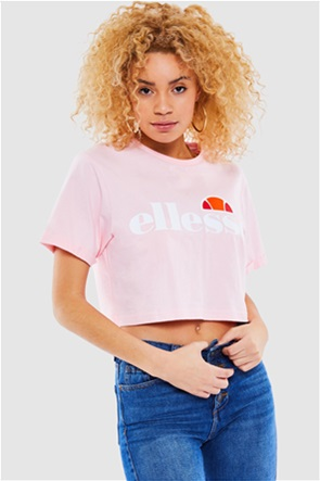"Ellesse γυναικείο T-shirt cropped με logo print ""Alberta"""